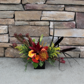 Autum Art Fall Flower Arrangement
