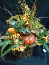 Autum Basket Silk Floral Arrangement