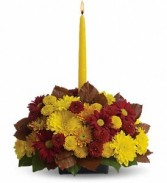 Single Candle Fall Bouquet