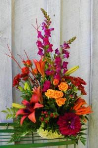 Autumn Abundance  Unique Floral Arrangement