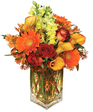 AUTUMN ADVENTURE Arrangement in Oakland, ME | VISIONS FLOWERS & BRIDAL DESIGNS