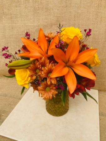 Autumn Aura Vased Arrangement