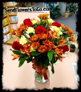 Autumn Beauty  Fresh Mixed Arrangement
