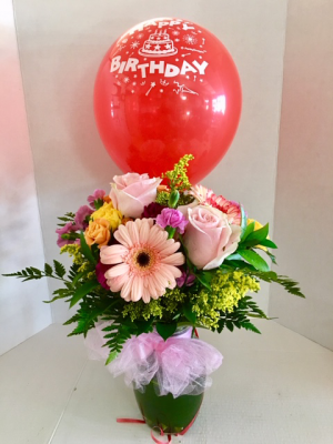 Happy Birthday! With Free Latex Balloon in Reno, NV | Flower Bell