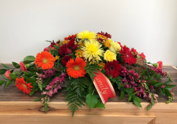 Autumn blessings Casket flowers