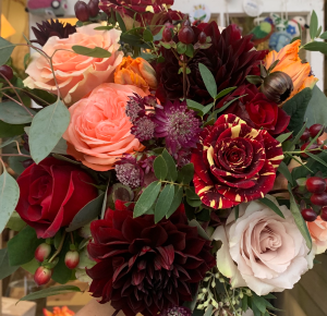 Autumn Bliss Vase Arrangement in Northport, NY | Hengstenberg's Florist