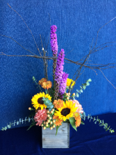 Autumn Branches N Blooms Arrangement