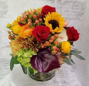 Autumn Brilliance Arrangement in Croton On Hudson, NY | Cooke's Little Shoppe Of Flowers
