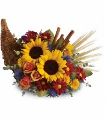 Autumn Celebration Cornacopia GFFG Arrangement