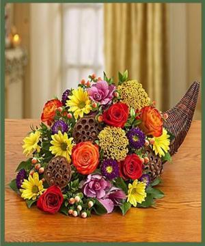 Autumn Celebration Cornucopia  in Arlington, TX | Erinn's Creations Florist