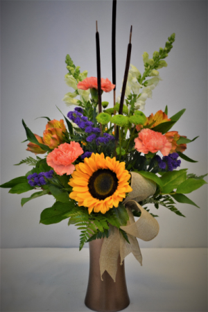 AUTUMN CELEBRATION FRESH FLOWERS VASED