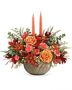 Autumn Centerpiece Fall in New Palestine, IN | Rose Lady Floral Design