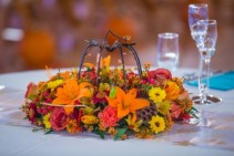 Autumn Centerpiece Wedding Arrangments