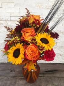 Autumn Collage Vase