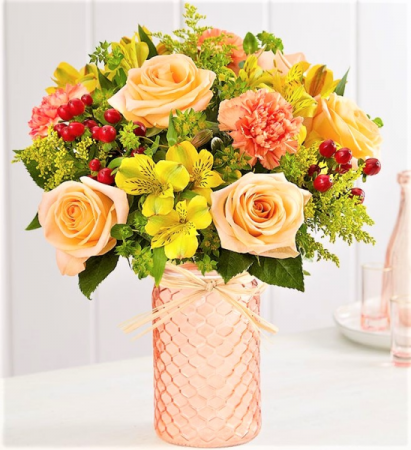Floral Confetti, Sunny and Bright!!! The Bees Knees!  Keepsake Jar!