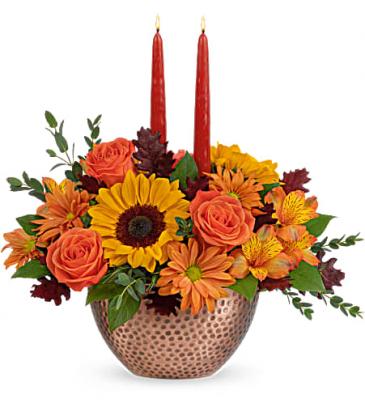 Autumn Copper Centerpiece