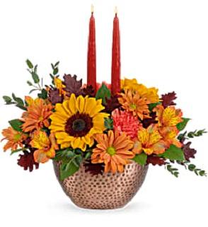 Autumn Copper Centerpiece  in Saint Marys, PA | GOETZ'S FLOWERS