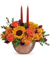 Autumn Copper Centerpiece Arrangement