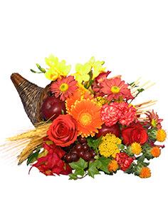 AUTUMN CORNUCOPIA of Bright Flowers