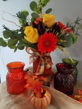 Autumn Crisp Fresh Arrangement