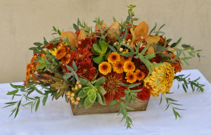 Autumn Elegance Centerpiece in Chatham, NJ | SUNNYWOODS FLORIST