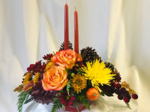 Autumn Elegance Centerpiece in Coleman, WI | COLEMAN FLORAL & GREENHOUSES