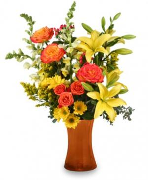 Autumn Excitement Arrangement in Richland, WA | ARLENE'S FLOWERS AND GIFTS