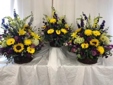 Autumn Farewell Trio Funeral Flowers