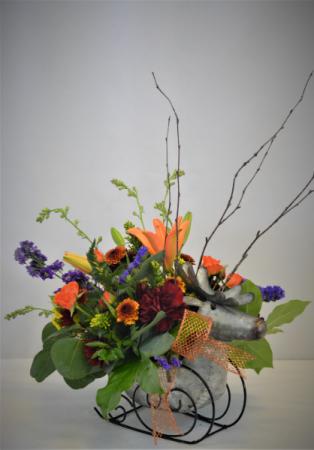 AUTUMN FLORAL EXPRESS FRESH FLOWER ARRANGEMENT
