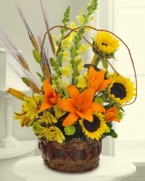 Autumn Garden Blooms Arrangement