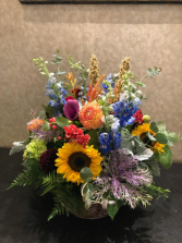 Autumn Garden Walk Basket Arrangment