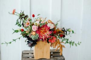 Autumn Garden Wood box in Beloit, OH   American Flower Farm & Florist