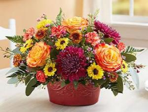 Autumn Gathering™ Casserole Dish by Pfaltzgraff Fall flowers in Orlando, FL | Artistic East Orlando Florist