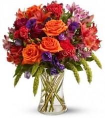Autumn Gems Vase