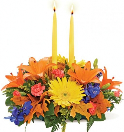 AUTUMN GLOW CENTERPIECE