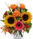 Autumn Glow Vase Arrangement