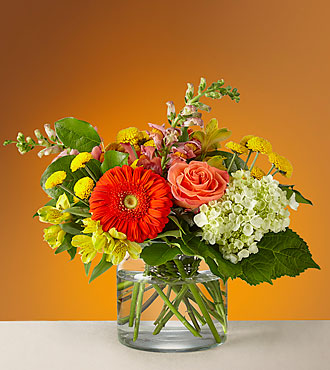 Autumn Glow Vased Arrangement
