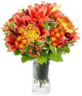 AUTUMN GOLDS FLOWERS  BOUQUET