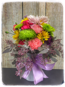 AUTUMN GREETINGS FLOWER ARRANGEMENT