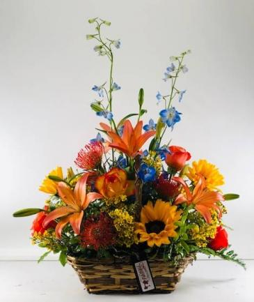 Autumn Happiness  Basket Arrangement