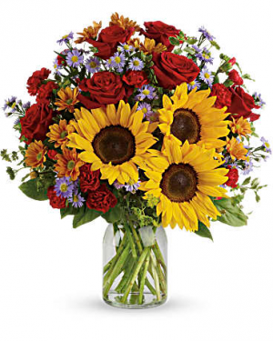 Autumn Happiness Vase arrangement in Chatham, NJ   SUNNYWOODS FLORIST