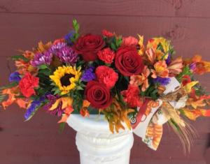 Autumn Harvest Centerpiece  in Marysville, WA | What's Bloomin' Now Floral