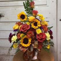 Autumn Harvest Funeral Flowers