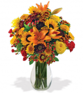 Autumn Harvest Vase arrangement