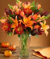 Autumn hedgerow vase arrangement