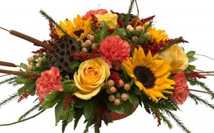 Autumn hugs arrangement in seguin tx dietz flower shop tuxedo autumn hugs arrangement mightylinksfo
