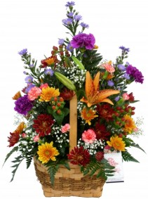 Autumn in a Basket  Basket Arrangements