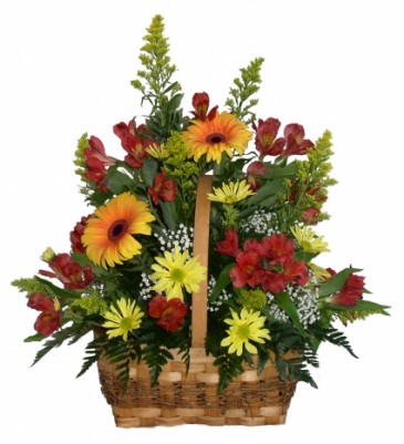 Awesome Autumn  Basket Arrangement