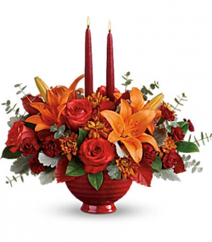 Autumn in Bloom Centerpiece  in Fort Collins, CO | D'ee Angelic Rose Florist
