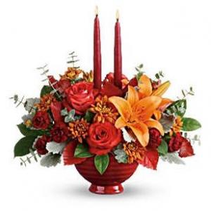 Autumn In Bloom Centerpiece in Cincinnati, OH   HYDE PARK FLORAL & GARDEN